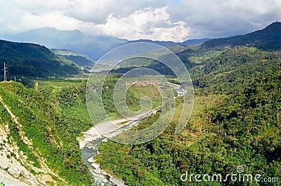 Pastaza River in Banos, Ecuador