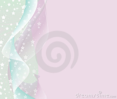 Pastel background with abstract waves and stars