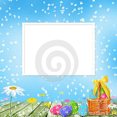 Pastel Background With Colored Eggs Royalty Free Stock Photo - Image: 12982815