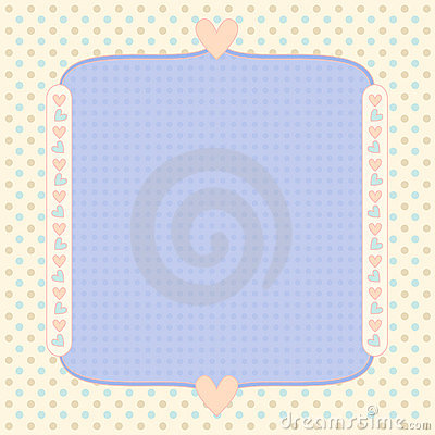 Pastel background with dots and hearts