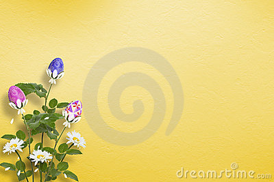 Pastel background with multicolored eggs