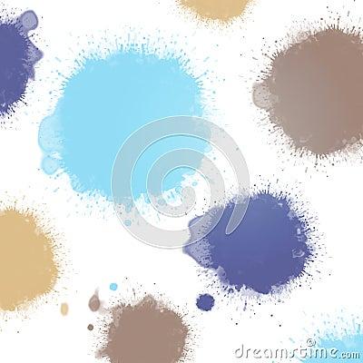 Pastel blue ink blots