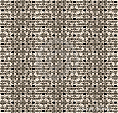 Pastel brown mosaic