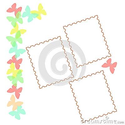 Pastel butterfly scrapbook