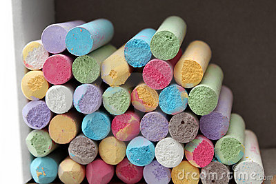 Pastel color chalks