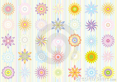 Pastel color floral pattern