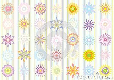 Pastel color floral pattern