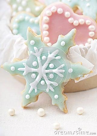 Pastel colored cookies
