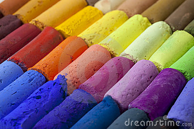 Pastel crayons abstract