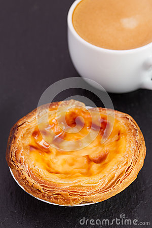 Free Pastel De Nata With Cup Royalty Free Stock Image - 29734776