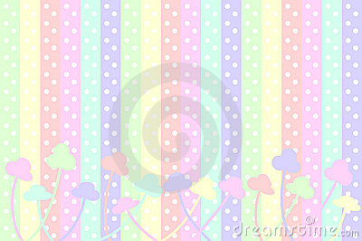 Pastel Dots and Flowers