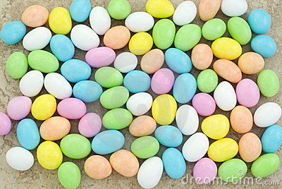Pastel Easter Candy Background