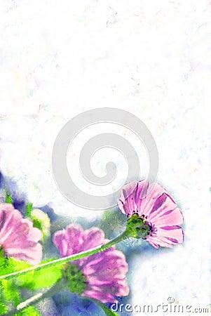 Pastel Flower Border / Paper