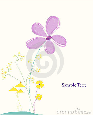 Pastel flower illustration