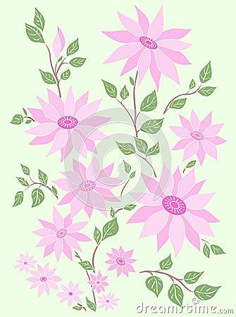 Pastel flowers.