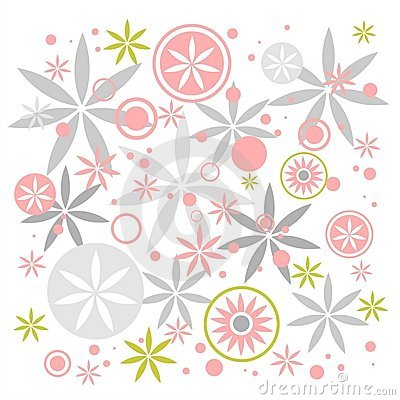 Pastel flowers background