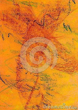 Pastel Grunge Background: Orange Series