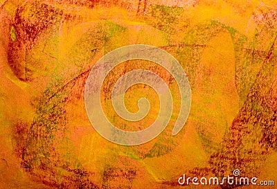 Pastel Grunge Background: Red Green Orange