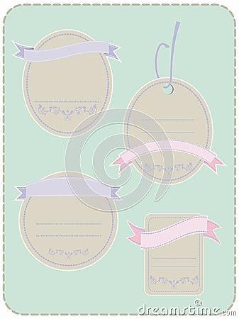 4 Pastel Labels