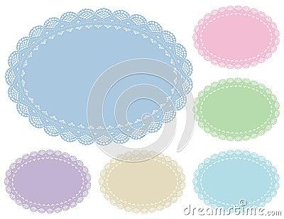 Pastel Lace Doily Place Mats