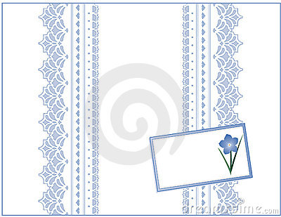 Pastel Lace, Forget Me Not Gift Box with Card