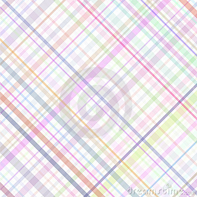 Free Pastel Multicolored Stripes Plaid Royalty Free Stock Photo - 12086555