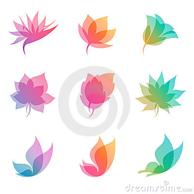 Pastel nature. Vector elements for design.