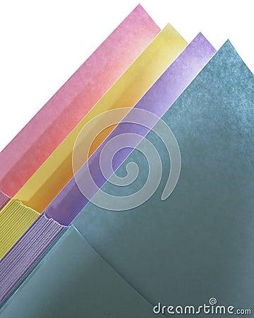 Pastel Paper Arrangement