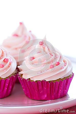 Pastel pink cupcakes