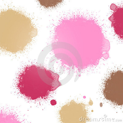 Pastel pink ink blots