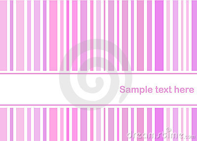 Pastel pink stripes card