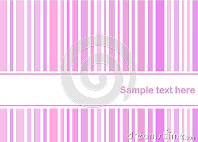 Pastel pink stripes card