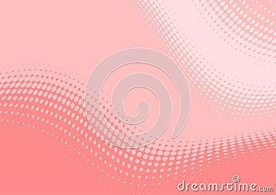 Pastel pink wavy pattern