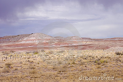 Pastel pinkish scenic view of Arizona