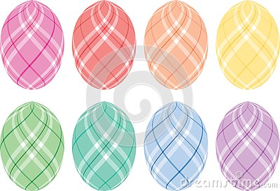 Pastel Plaid Easter Eggs