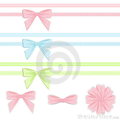Free Pastel Ribbon And Bow Collection. Stock Images - 22190184