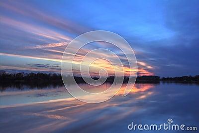 Pastel River Sunrise