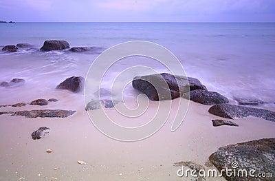 Pastel sea scape at dawn
