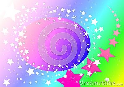 Pastel starry sky