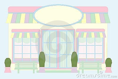 Pastel Store Front - Mouse Drawn