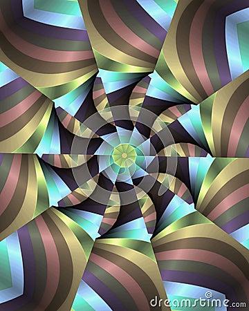 Pastel stripes floral