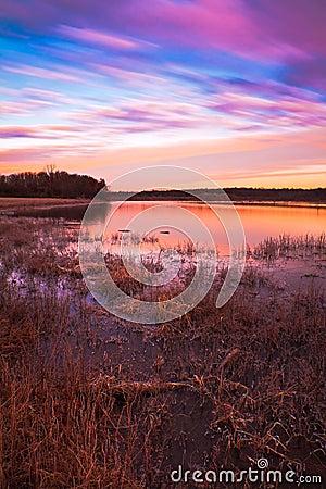 Free Pastel Sunrise At Lake Jacomo Stock Photos - 22606813