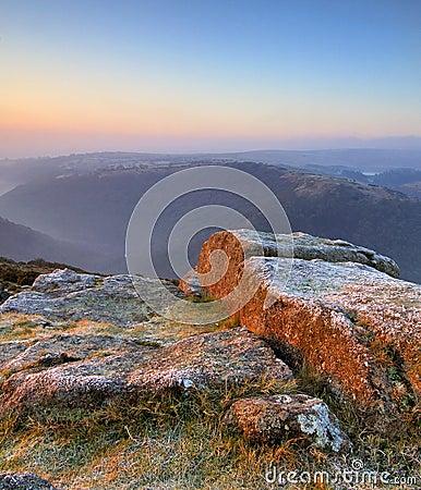 Free Pastel Sunrise On Dartmoor Stock Image - 4674771