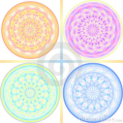 Pastel tone kaleidoscope design