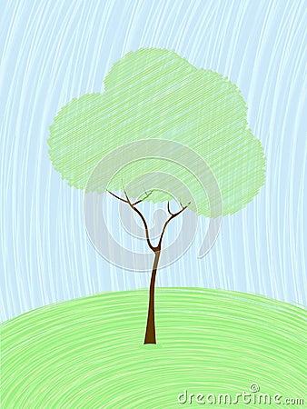 Pastel tree card