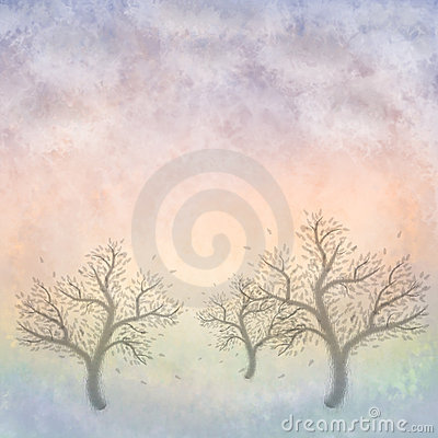 Pastel Trees (Painting)