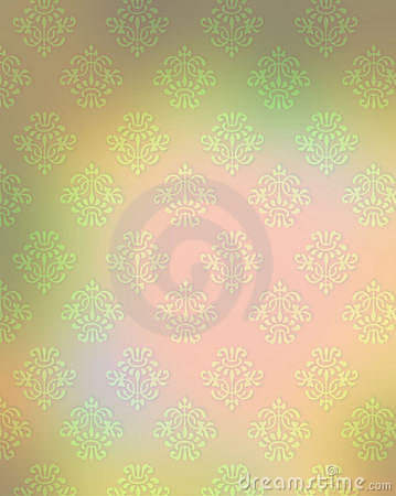 Pastel wallpaper with french motif