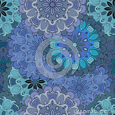 Pastelkleur blauw uitstekend naadloos patroon in oosterse stijl indisch arabisch ottomane - Indisch stijl hoofdbord ...