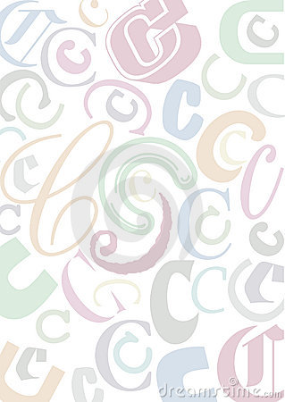 Pastell colored letter C