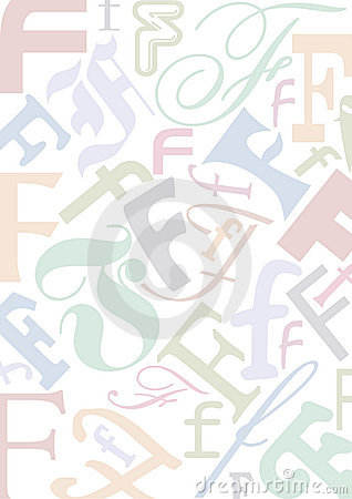 Pastell colored letter F